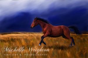 Sudden Thunder Galloping Horse